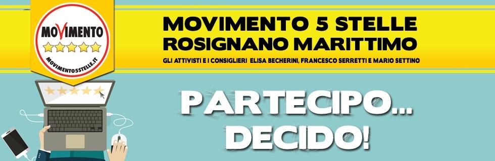 Partecipo Decido Democrazia Partecipazione diretta Rosignano M5S