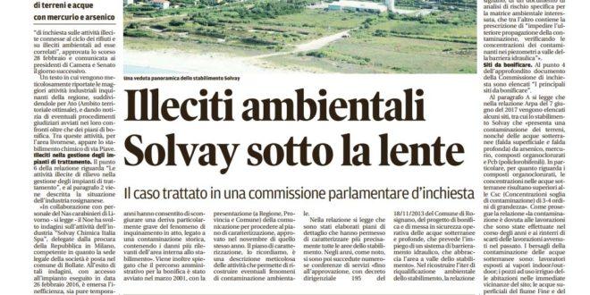 SOLVAY: LA RELAZIONE DELLA COMMISSIONE D'INCHIESTA PARLAMENTARE