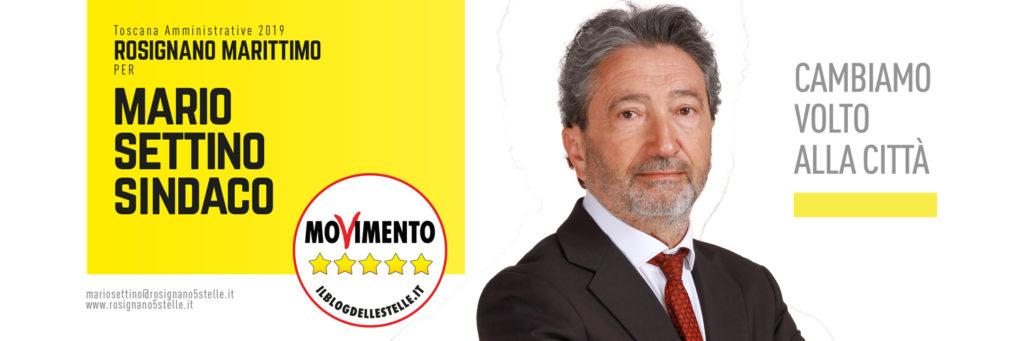 mario settino candidato sindaco m5s rosignano marittimo
