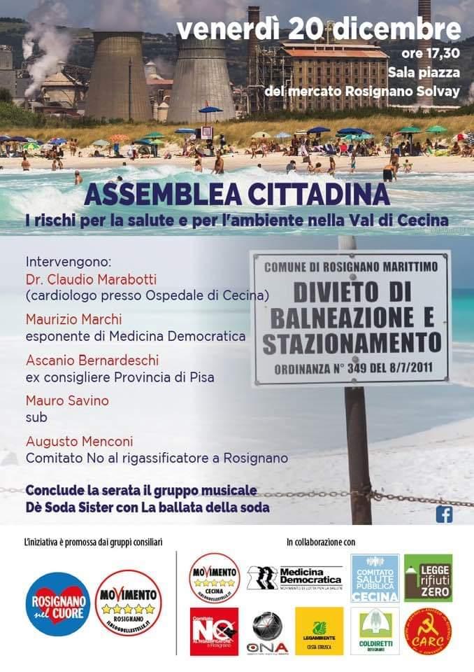 assemblea aperta sul tema salute ed inquinamento ambientale