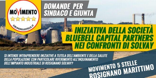 Bluebell Capital Partners richiede bonifiche e riduzione impatto ambientale a Solvay: interpellanza al Sindaco