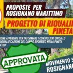 approvata mozione m5s sulla riquaklificazione della pineta marradi