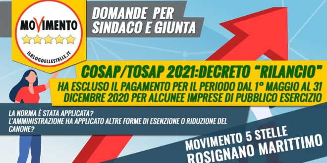 AGLI ATTI INTERPELLANZA COSAP/TOSAP 2021