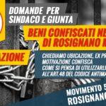 interrogazione beni confiscati alla criminalità a rosignano marittimo m5s